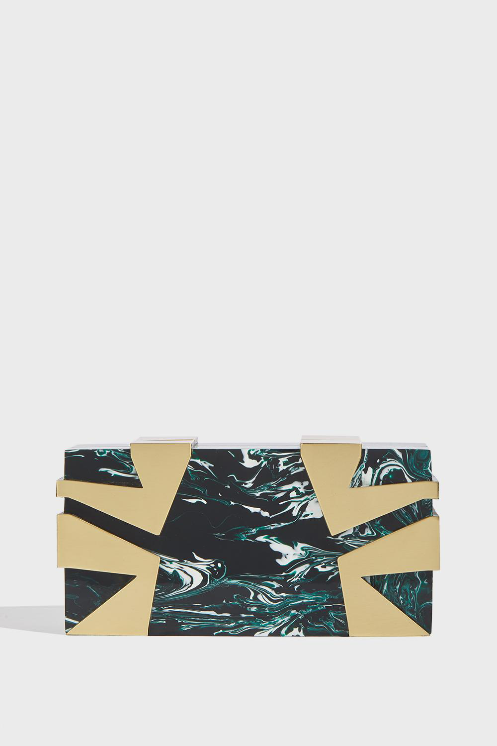 Kdp Marble Clutch In Green