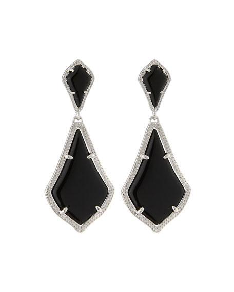 Kendra Scott Alexa Statement Drop Earrings, Black Glass