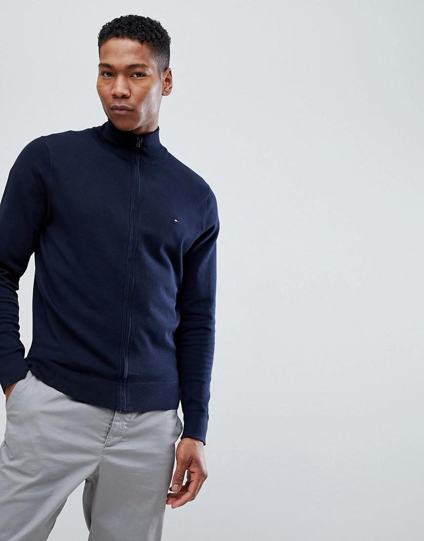 Tommy Hilfiger Full Zip Sweater - Navy
