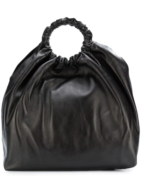 The Row Double Circle Xl Napa Crossbody Bag In Black