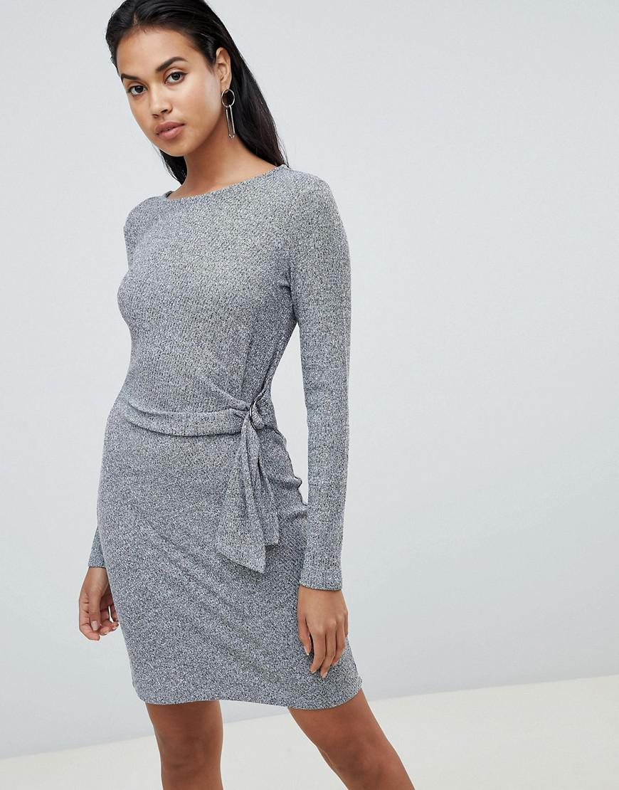 Y.a.s Tallo Knot Side Dress - Gray