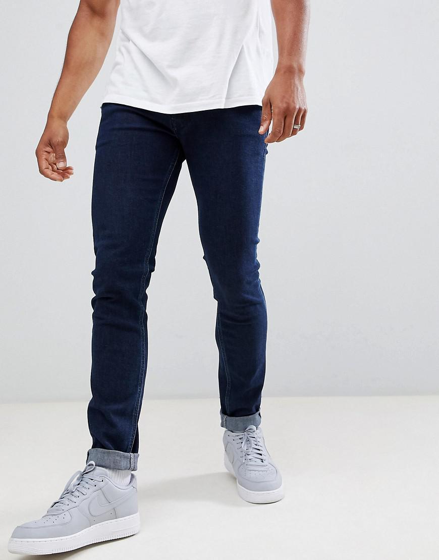 Diesel Sleenker Skinny Fit Jeans In 084yd - Navy