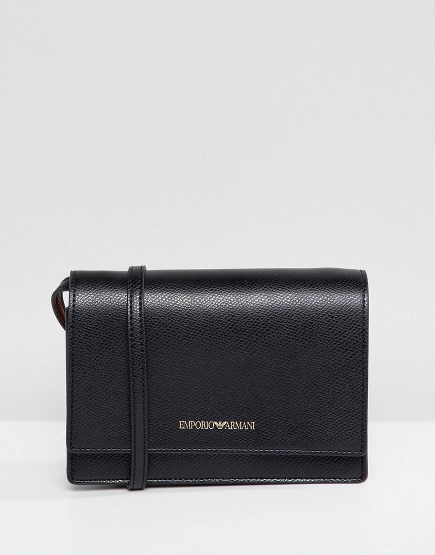 Emporio Armani Mini Box Crossbody Bag - Black