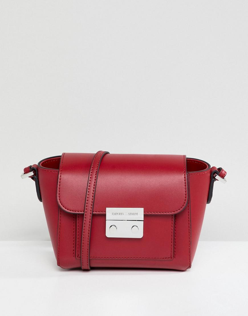 Emporio Armani Crossbody Bag With Signature Hardware - Red