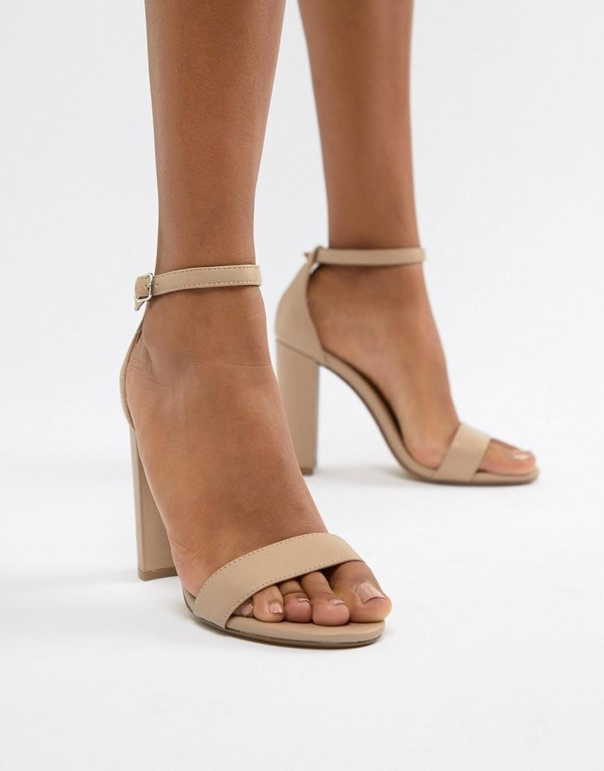 Steve Madden Carson Leather Blush Pink Heeled Sandals - Pink
