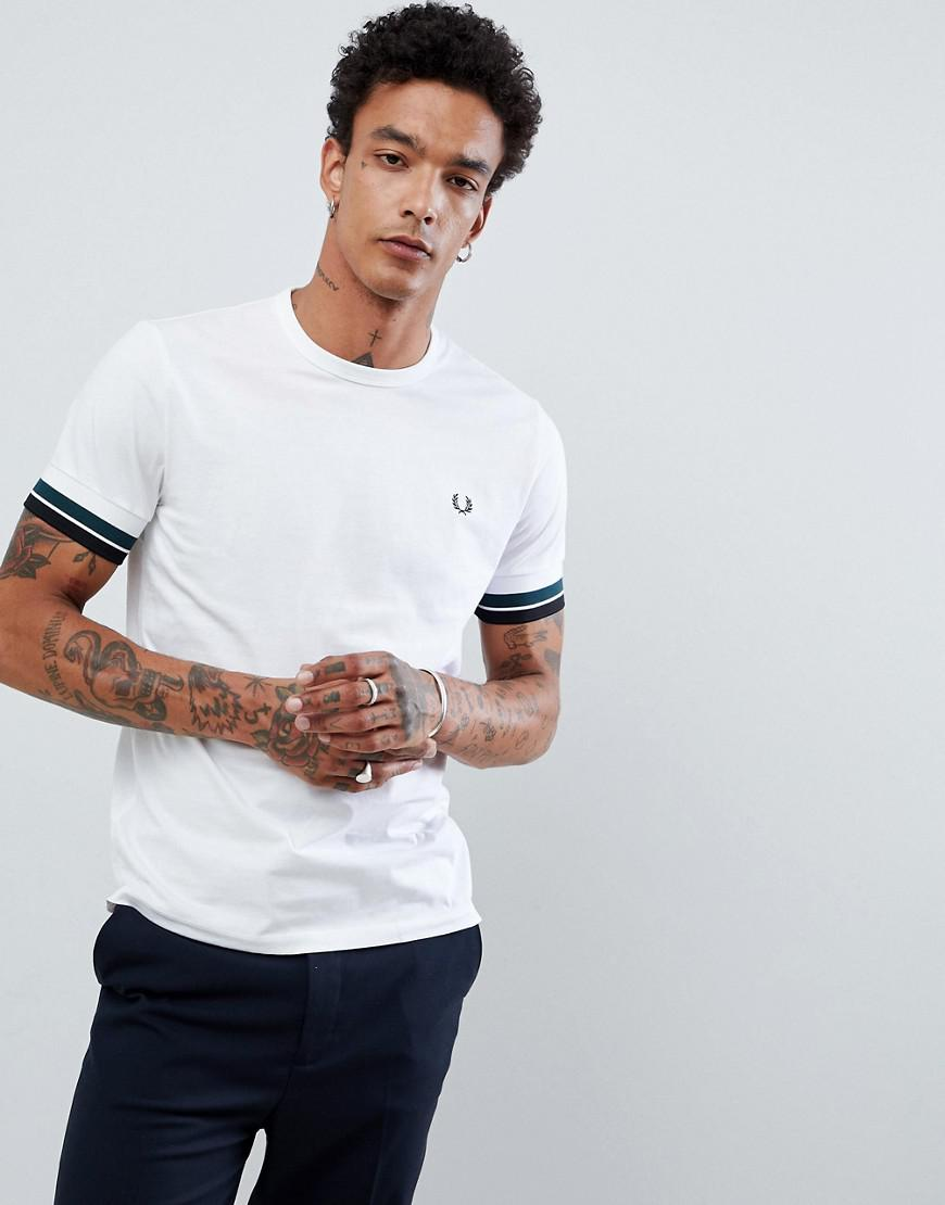 Fred Perry Bold Tipped T-shirt In White - White