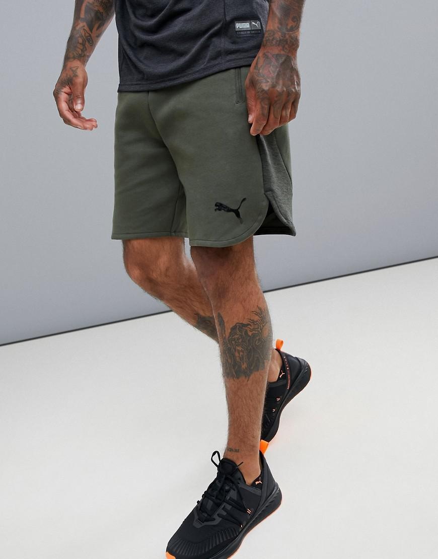 Puma Training Evostripe Shorts In Khaki - Green