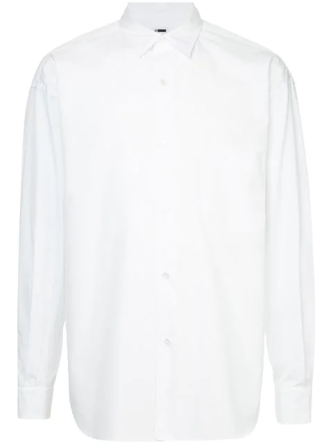H Beauty & Youth H Beauty&youth Long-sleeve Fitted Shirt - White