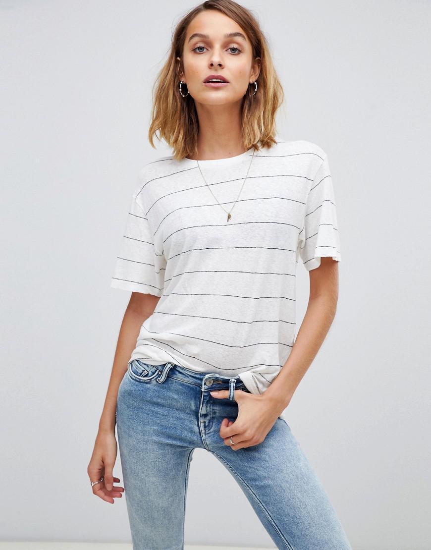 Allsaints Iris Stripe T-shirt - White