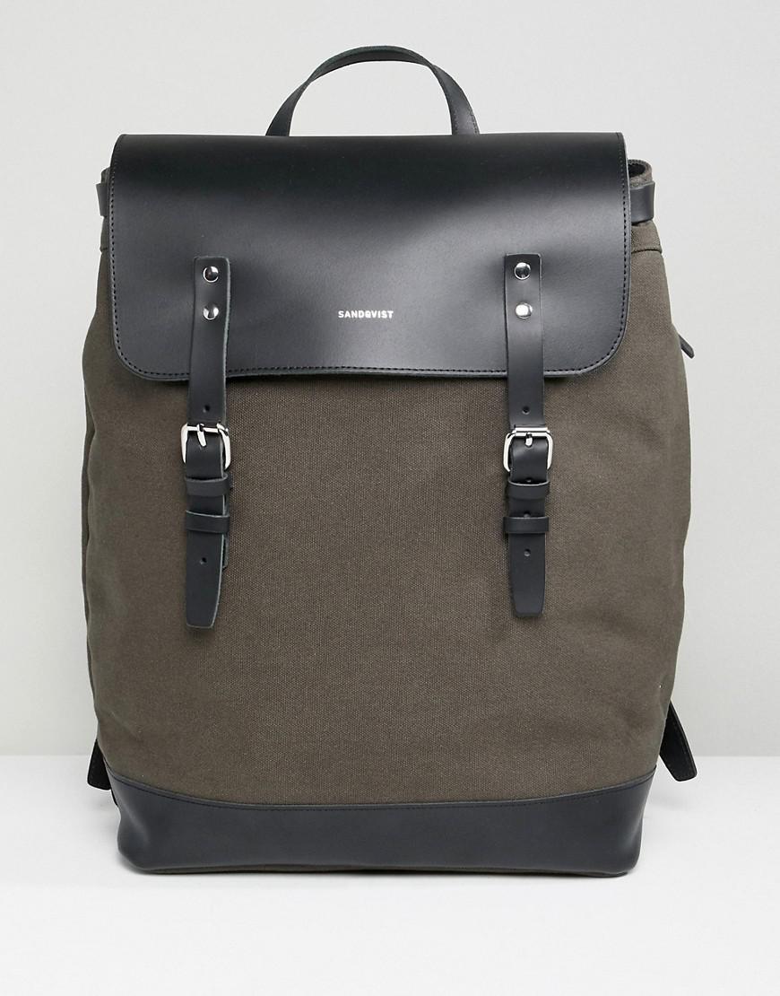 Sandqvist Hege Backpack In Green - Green