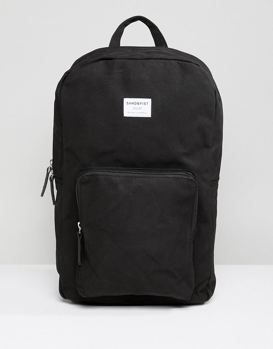 Sandqvist Kim Backpack In Black - Black
