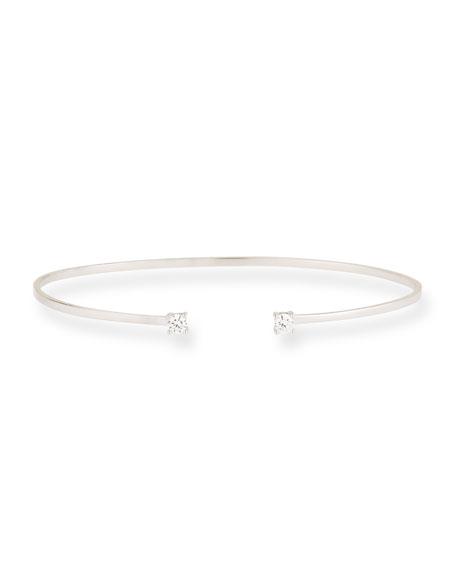 Lana 14k Gold Echo Diamond Cuff Bracelet In Rose Gold