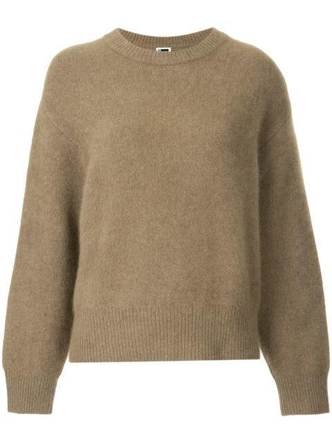 H Beauty & Youth Long-sleeve Fitted Sweater In Brown