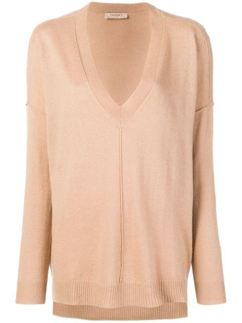 Twinset Twin-set Oversized Long-sleeve Sweater - Neutrals