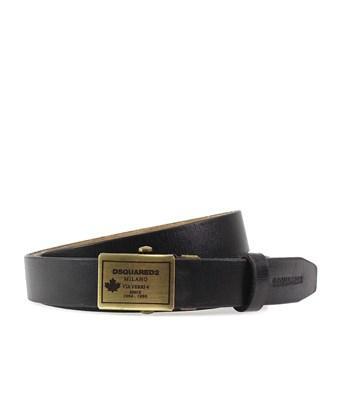 Dsquared2 Men's  Black Leather Belt