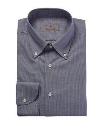 Canali Sartorial Slim Fit Dress Shirt In Blue