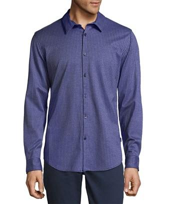 Calvin Klein Embroidered Button-down Shirt In Nocolor