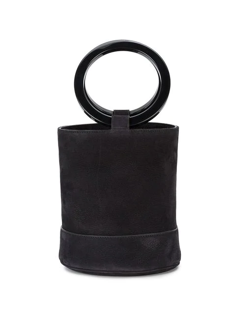 Simon Miller 'bonsai 20cm' Nubuck Leather Bucket Bag In Black