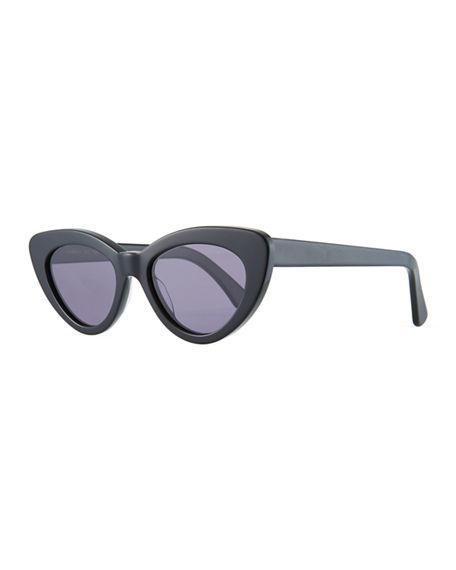 Illesteva Women's Pamela Cat Eye Sunglasses, 53mm In Black/gray