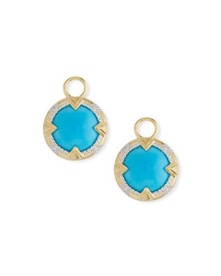 Jude Frances 18K Gold Lisse Uptown Turquoise Earring Charms