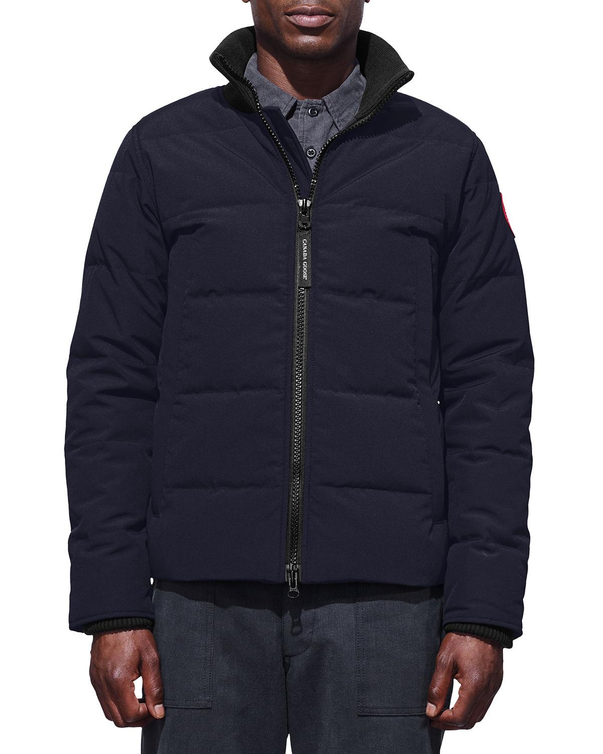 Canada Goose Men's Woolford Quilted Fusion-fit Jacket In Navy