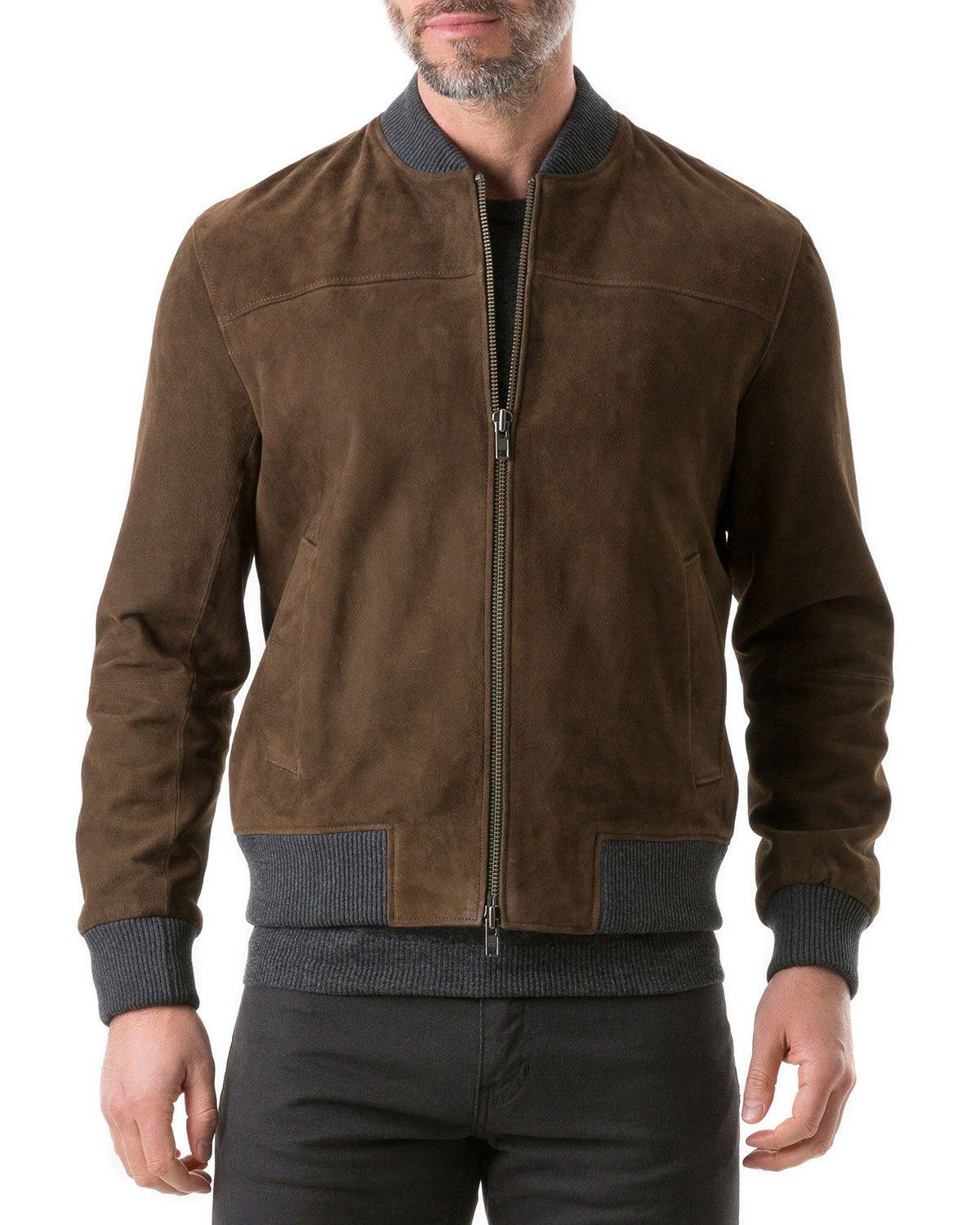 Rodd & Gunn Men's Carter's Mill Suede Jacket In Brown