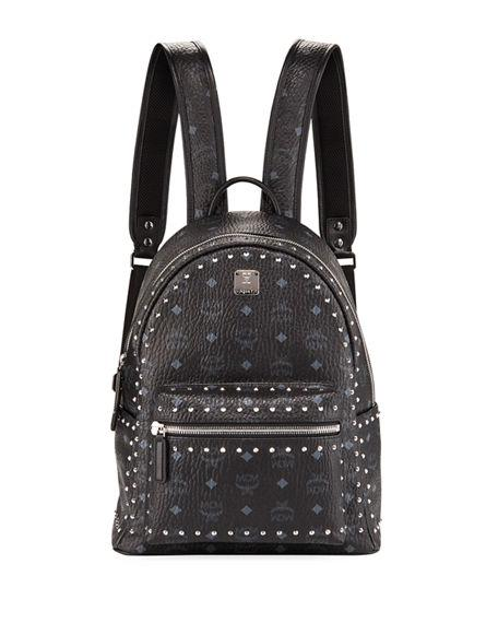 3686b5965a5ff9 Mcm Stark Outline Studs Convertible Visetos Backpack In Black | ModeSens