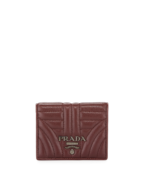 064baa2a1bf28b Prada Diagramme French Wallet In Dark Red   ModeSens