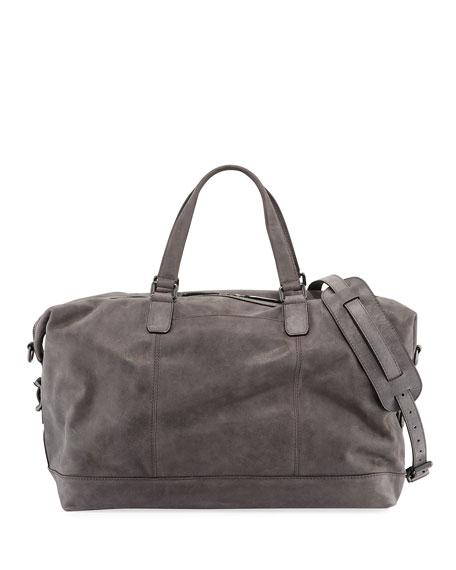 e18b8a793ac78 Frye Men s Oliver Suede Overnight Bag In Slate