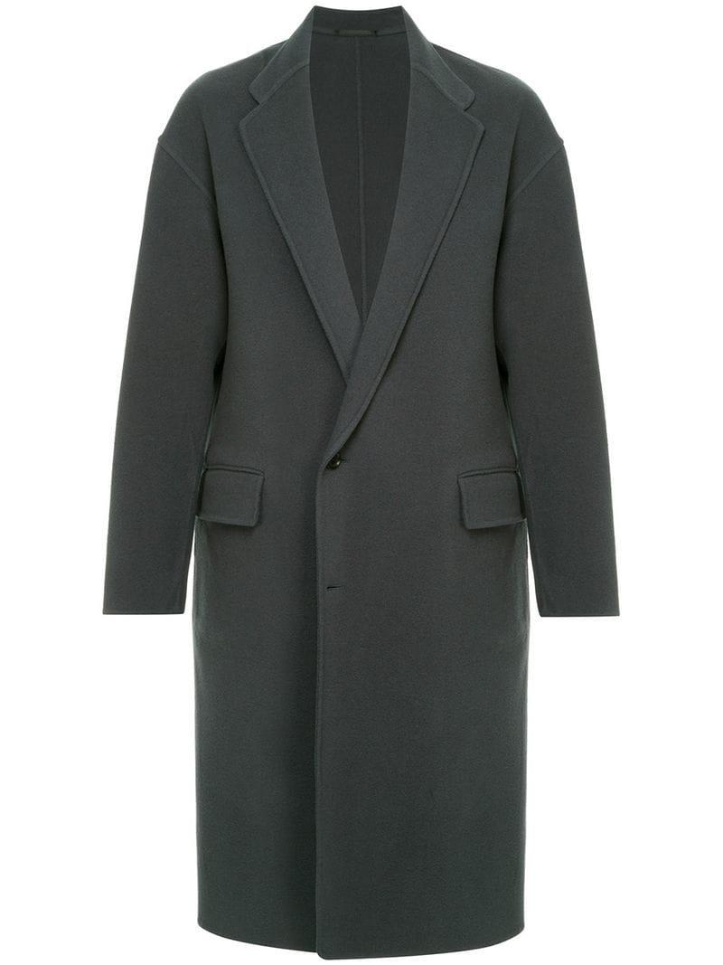 H Beauty & Youth H Beauty&youth Single-breasted Fitted Coat - Grey