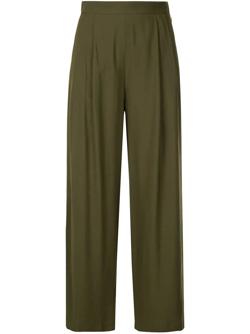 H Beauty & Youth H Beauty&youth High-waist Flared Trousers - Green