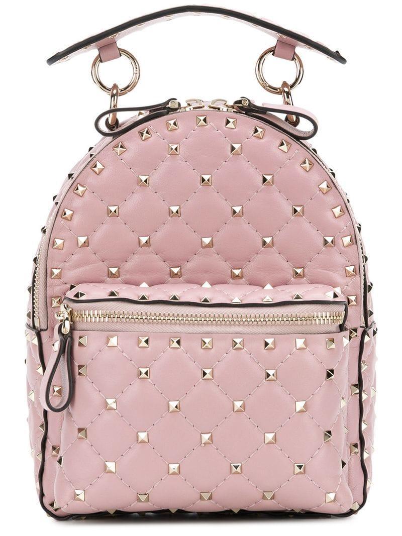 9f7796f057 Valentino Garavani Rockstud Spike Mini Backpack In Pink | ModeSens