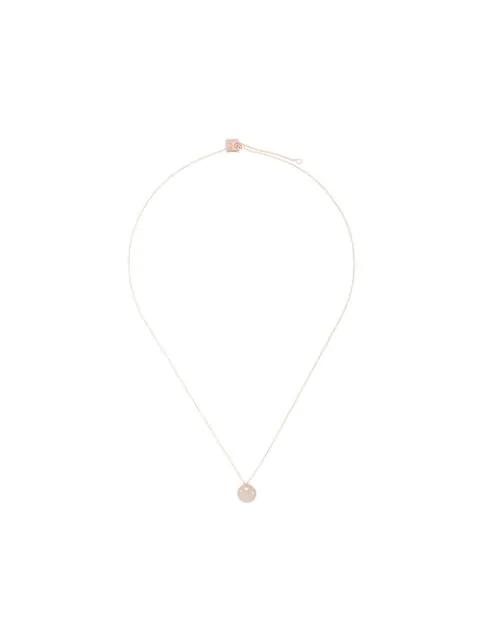 Ginette Mini Milkey Way Disc Necklace In Metallic
