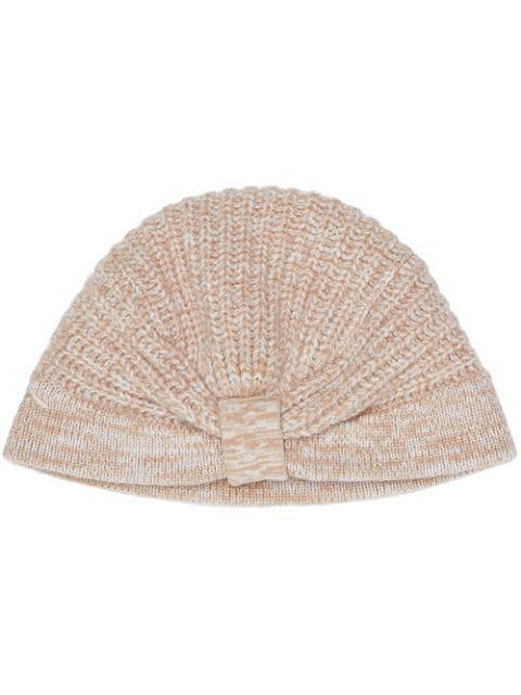 Fendi Cashmere Knitted Hat - Neutrals