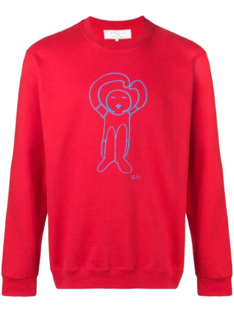 SociÉtÉ Anonyme Logo Print Sweatshirt In Red