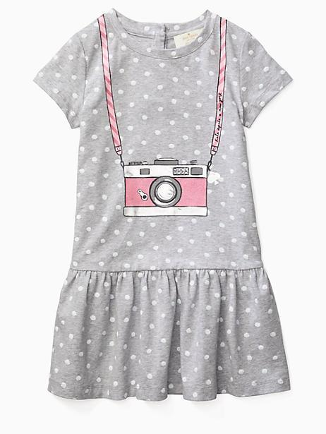 Kate Spade Toddlers' Camera Dress In Heather Grey