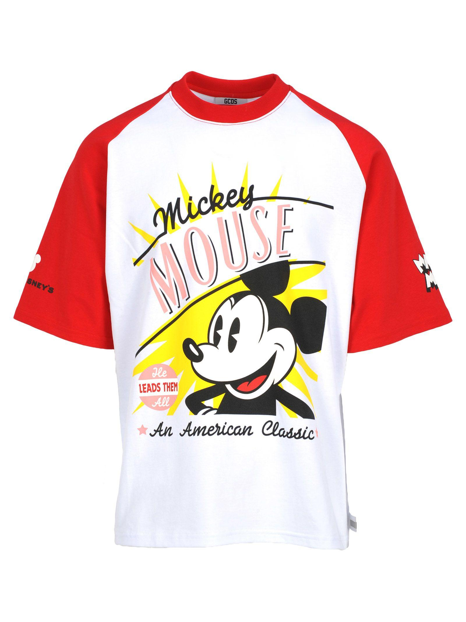Gcds Tshirt Mickey In White