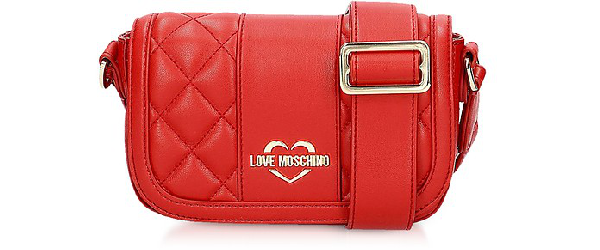 Love Moschino Quilted Eco Leather Camera Bag In Red