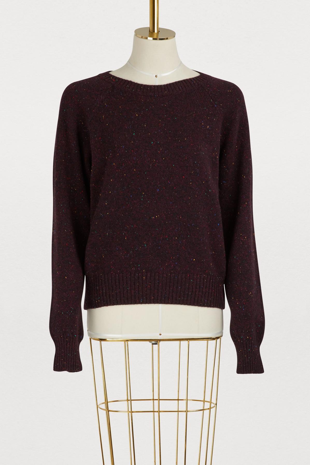 A.p.c. Striling Sweater In Lie De Vin