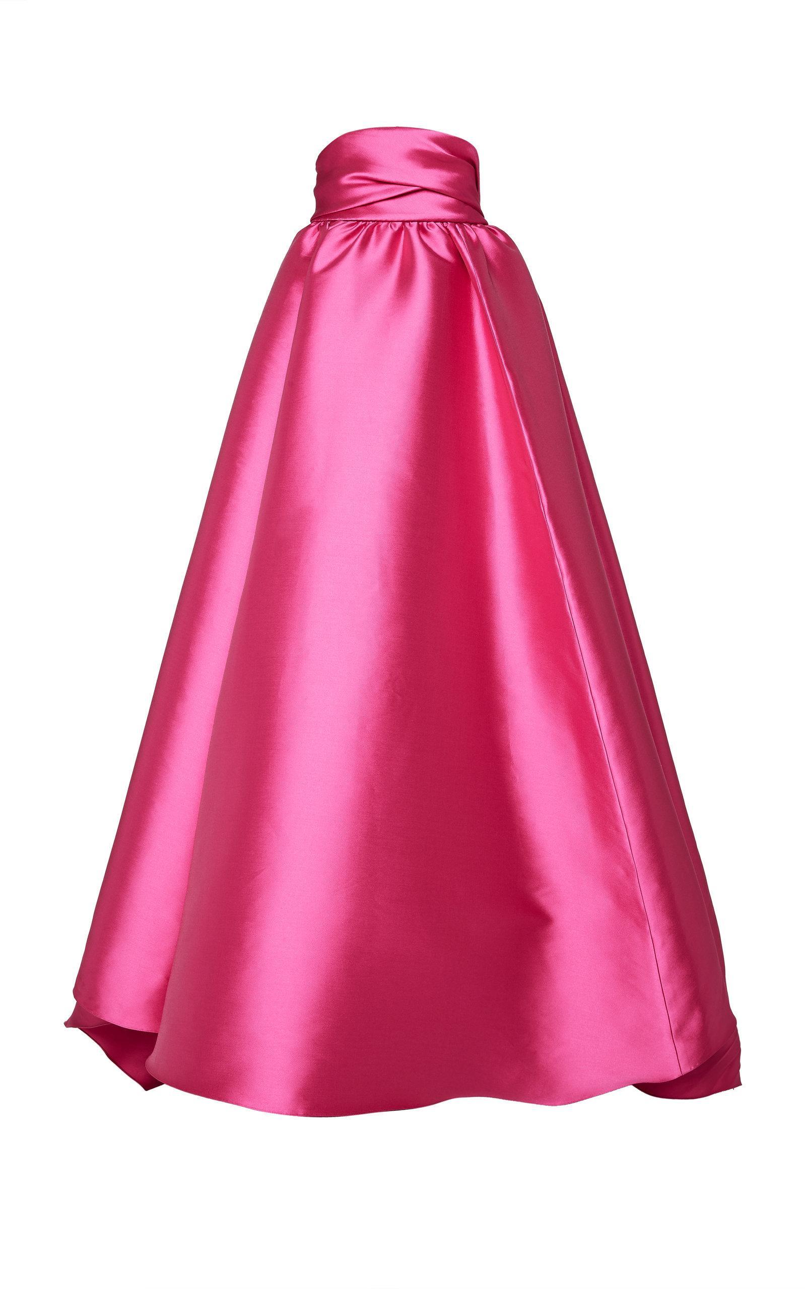 Brandon Maxwell Tie-back Ball Skirt In Pink