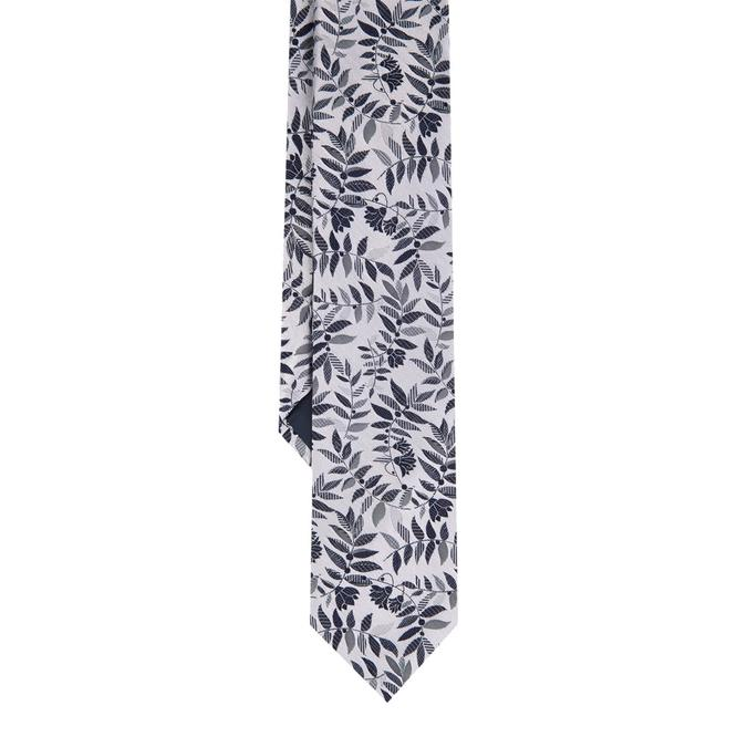 Duchamp London White Tropica Floral Silk Tie