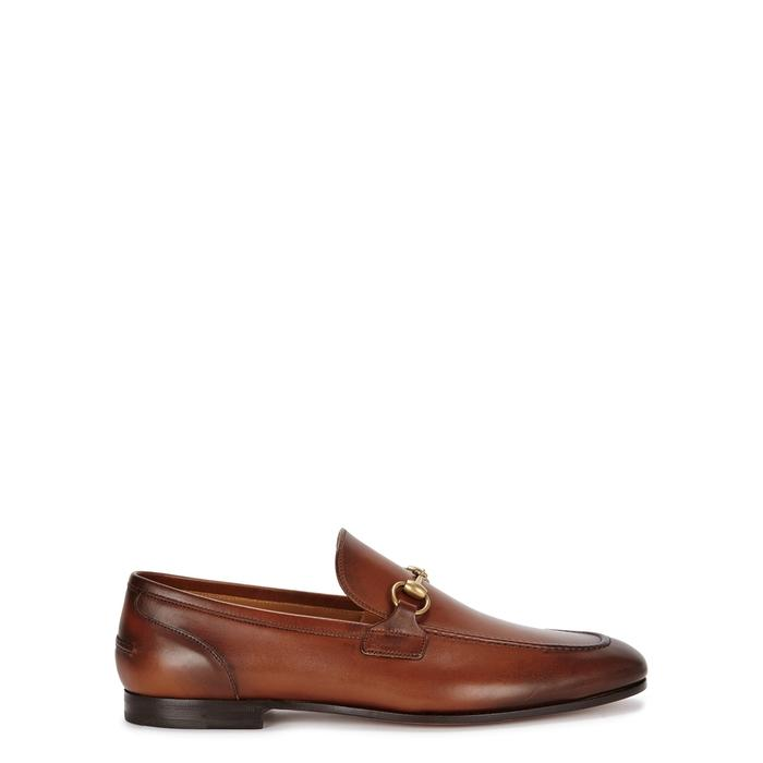 Gucci Jordan Horsebit Leather Loafers In Camel