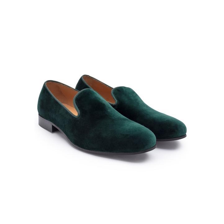 Hackett Velvet And Grosgrain Slipper Shoes