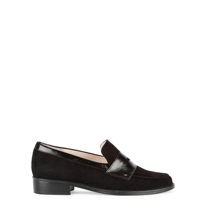Leandra Medine Black Suede Loafers