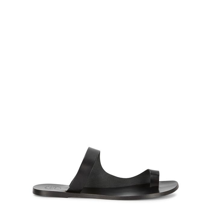Atp Atelier Dina Black Leather Sandals