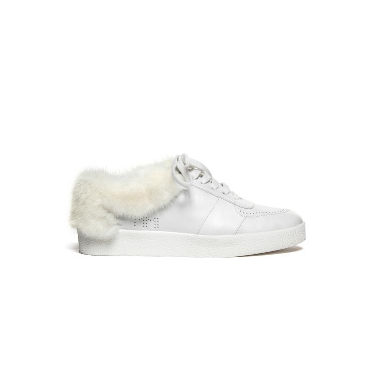 Mr & Mrs Italy Fur Sneaker Calf Leather Mink Shearling Fur