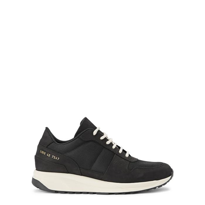 Common Projects Track Vintage Runner Black Mesh Trainers