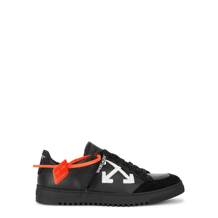 Off-white Carryover Black Leather Trainers