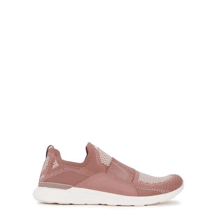 Apl Athletic Propulsion Labs Techloom Bliss Rose Knitted Trainers