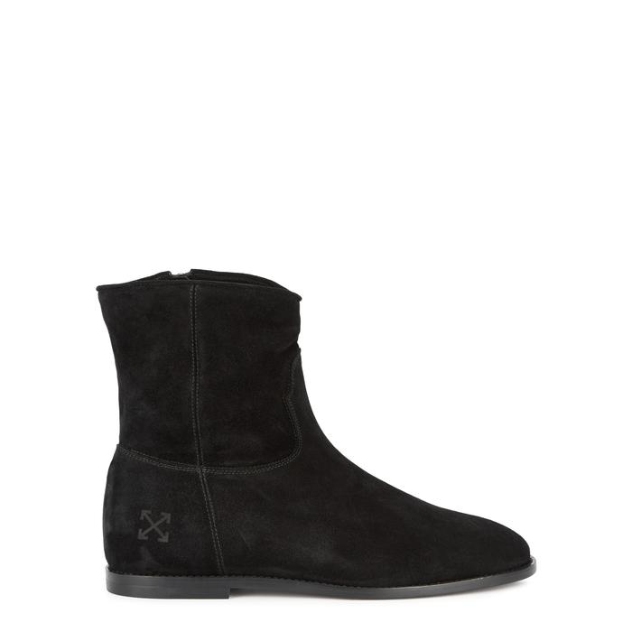Off-white Black Suede Boots